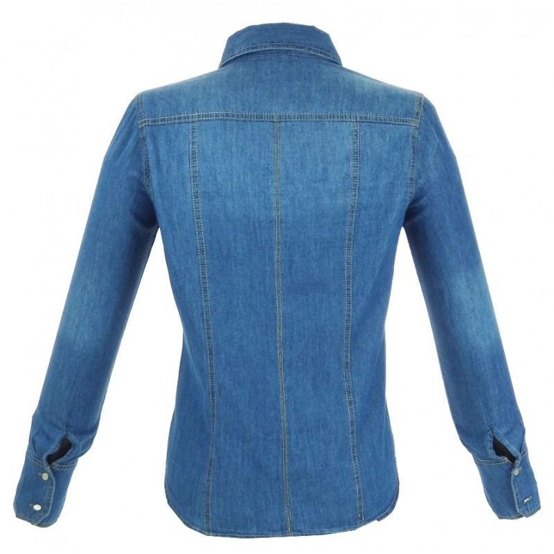 Klasyczna jeansowa koszula 003 Sklep internetowy z odzieżą damską