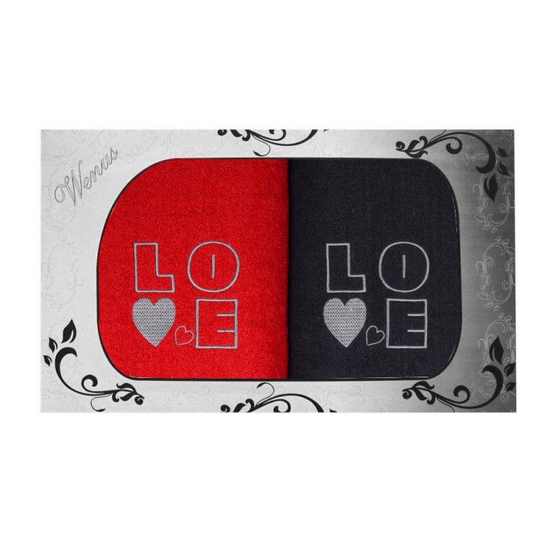 Komplet ręczników na prezent 2cz LOVE MZ-4356
