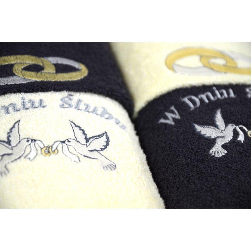 Komplet ręczników na prezent 6-częściowy  WZ- 4398 Ślub