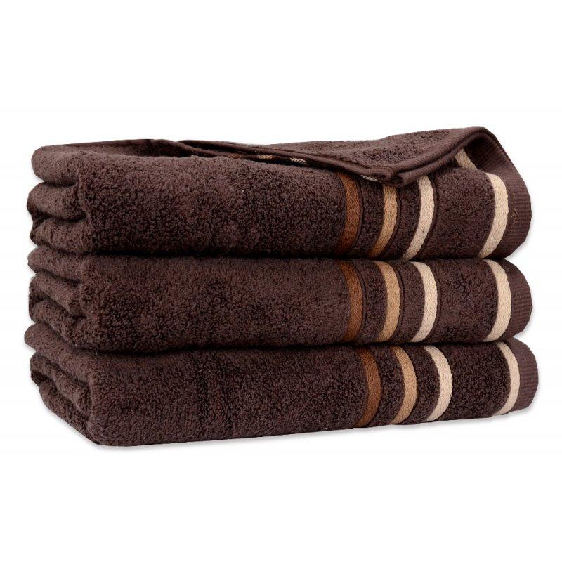 Ręcznik Bawełniany DUAL Brązowy Ręcznik Kąpielowy Ręcznik Frotte Ręcznik z Bawełny Ręcznik Łazienkowy Mały Średni Duży