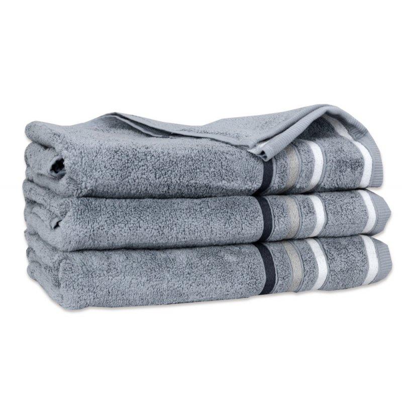Ręcznik Bawełniany DUAL Szary Ręcznik Kąpielowy Ręcznik Frotte Ręcznik z Bawełny Ręcznik Łazienkowy Mały Średni Duży