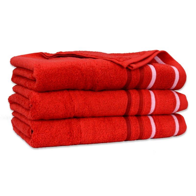 Ręcznik Bawełniany DUAL Czerwony Ręcznik Kąpielowy Ręcznik Frotte Ręcznik z Bawełny Ręcznik Łazienkowy Mały Średni Duży