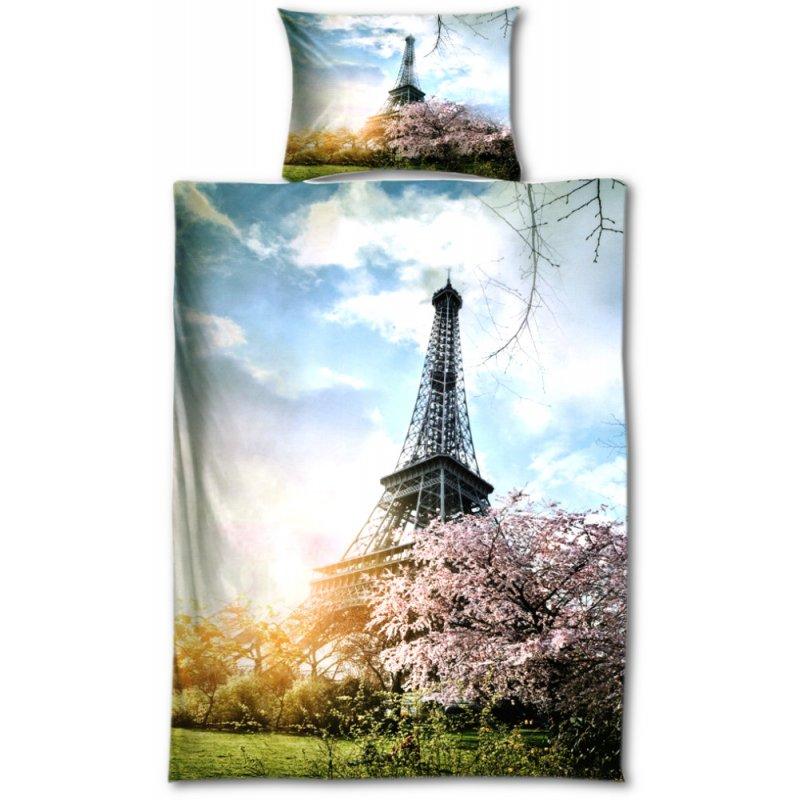 Pościel LAVANDE 140x200 (PARYŻ) Wieża Eiffla Pościel 140x200 na Zamek Pościel 140x200 dla Dorosłych