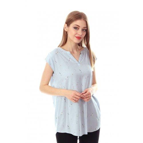 Bluzka damska z wiskozy - wzór MEWY