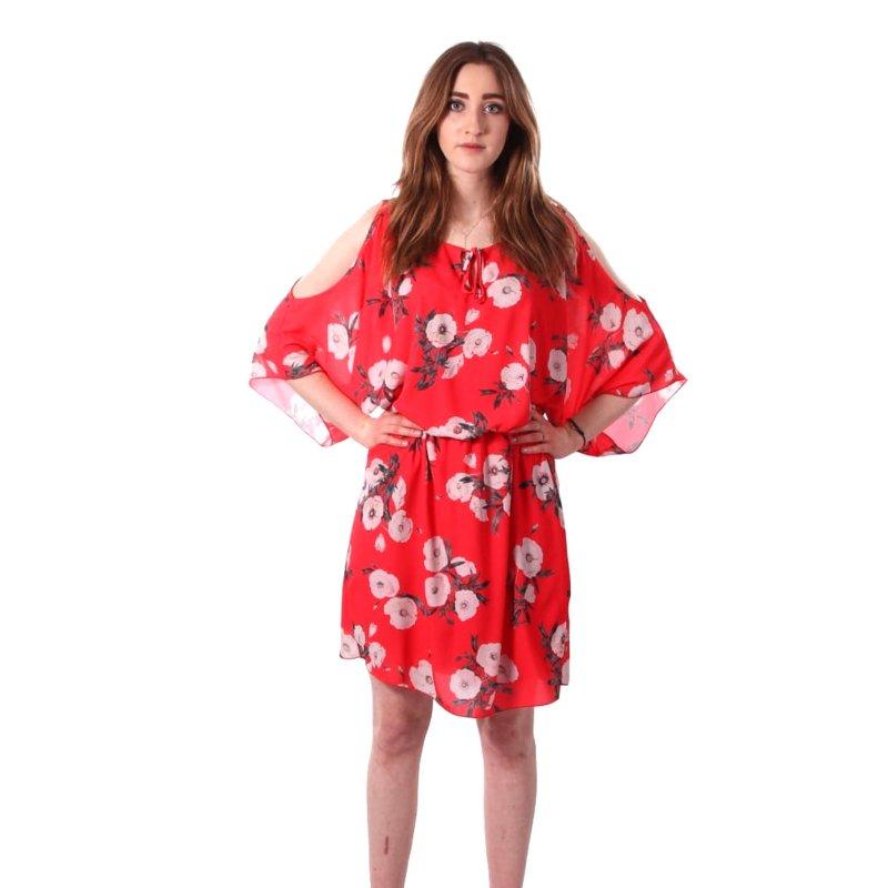 Sukienka  w kwiaty KIMONO Sukienka Kimono w Kwiaty Malinowa Sukienka na Wesele