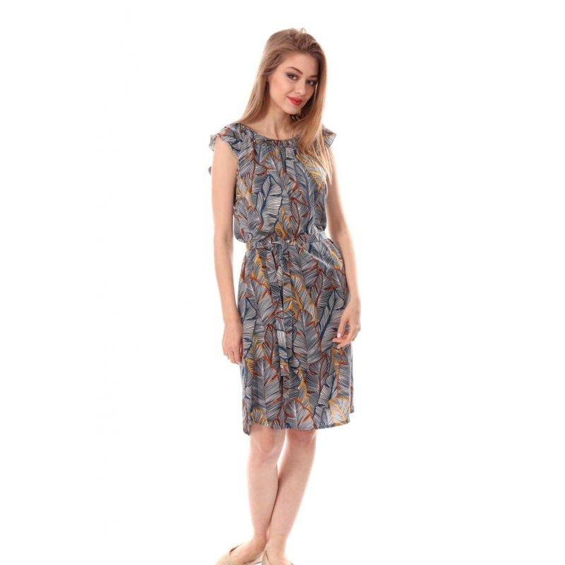 Prosta sukienka z rękawem typu motylek- PALMY Sukienka z Rękawem Motylek Sukienka w Kolano