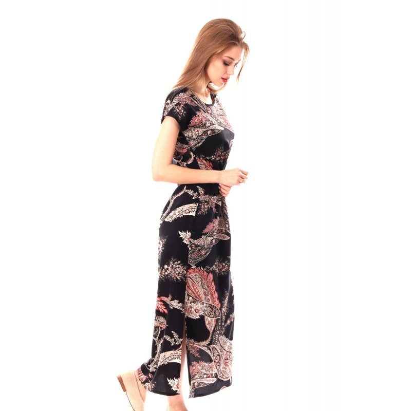 Długa sukienka MAXI - motyw paisley Długa Elegancka Sukienka Paisley