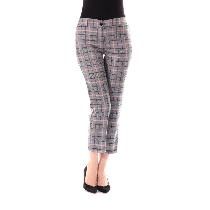 Spodnie damskie w kratkę z mankietami Damskie Spodnie w Kratę