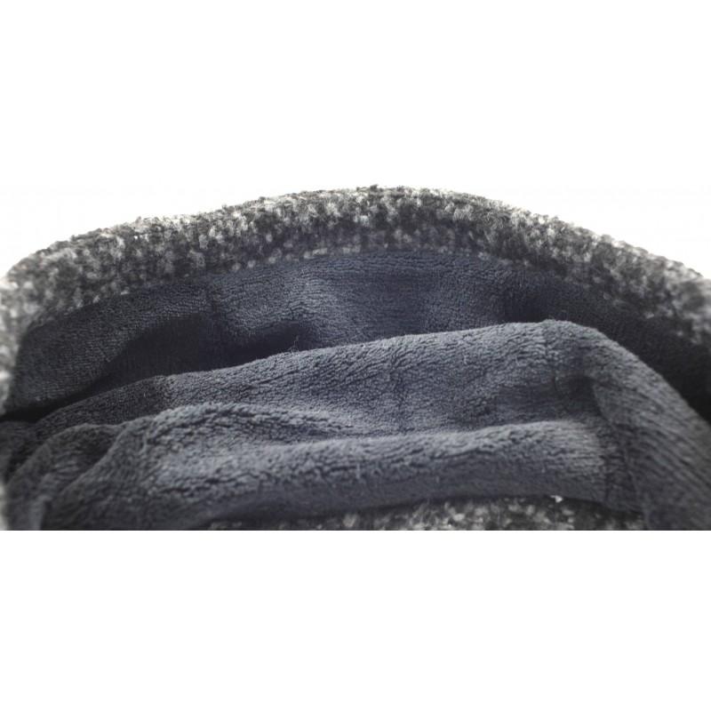 Płaszcz BOUCLE z kapturem (grafitowy)