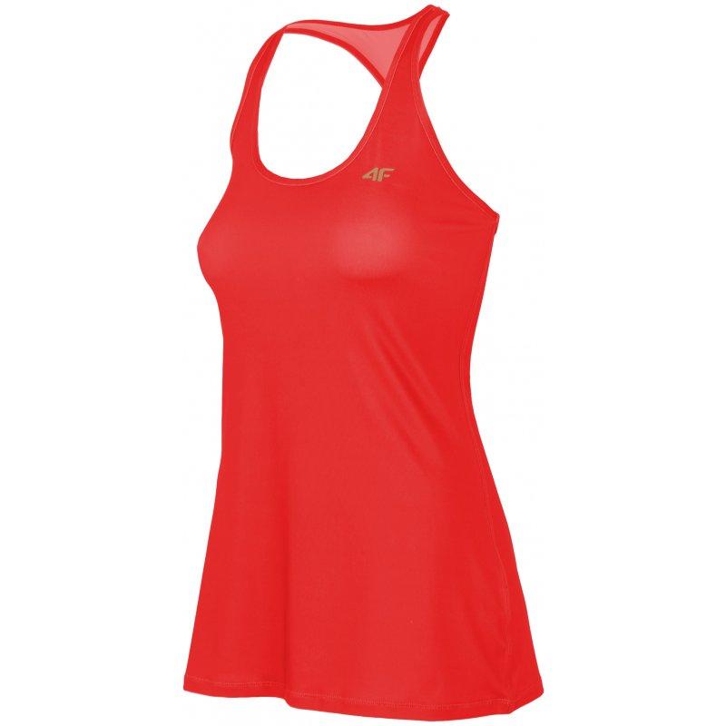 Top typu bokserka damska 4F - czerwony Top Damski Fitness Top Damski 4F Bokserka Damska Fitness Bokserka Damska Siłownia