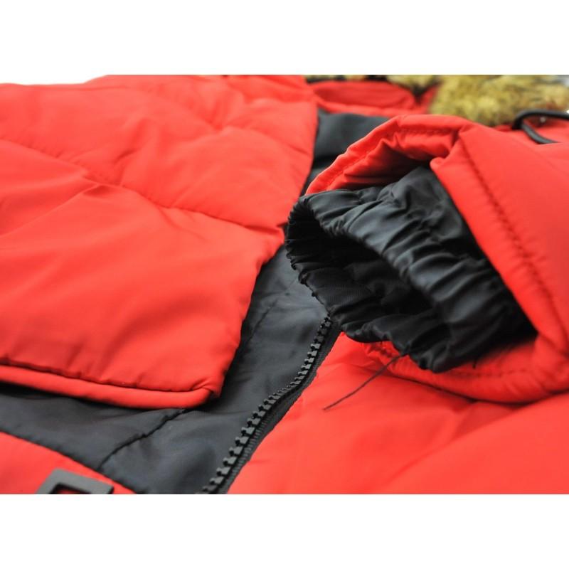 Kurtka typu grzybek z futerkiem (czerwona)