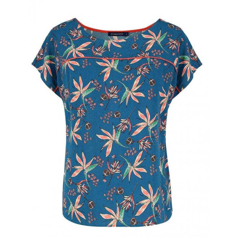 Bluzka damska K- NEL - niebieska Damska bluzka z wiskozy  Bluzka Wiskozowa Koszulka z wiskozy Bluzka Damska wiskozowa