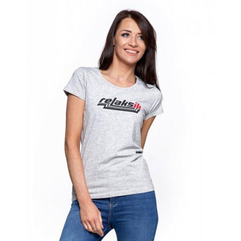 Koszulka damska MORAJ BD1100-518-  szara Klasyczna koszulka damska szara króki rękaw Koszulka z Moraja