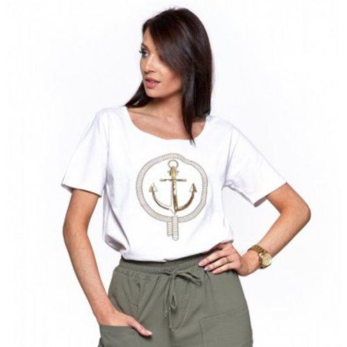 Koszulka damska MORAJ BD1500-101- biała