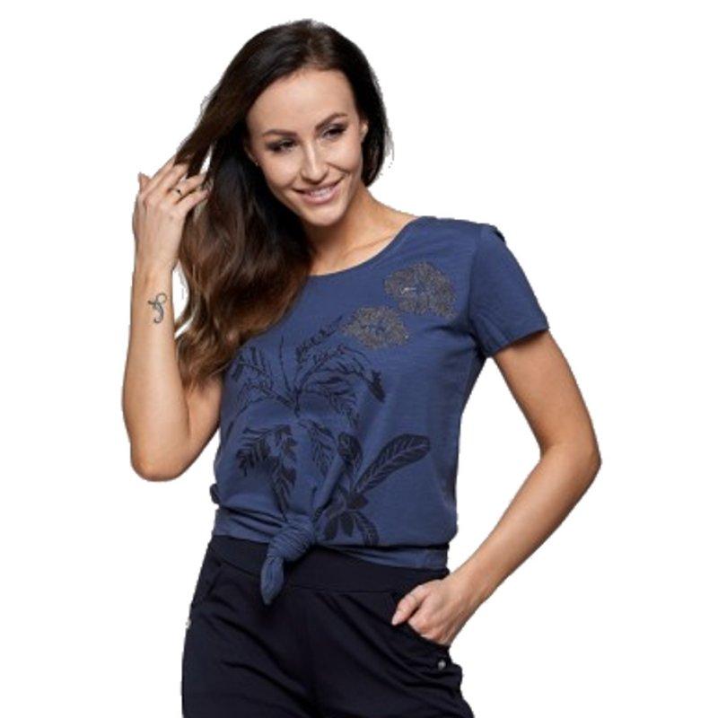 Koszulka damska MORAJ BD1200-017- c. niebieska koszulka damska 100% bawełna Koszulka Moraj
