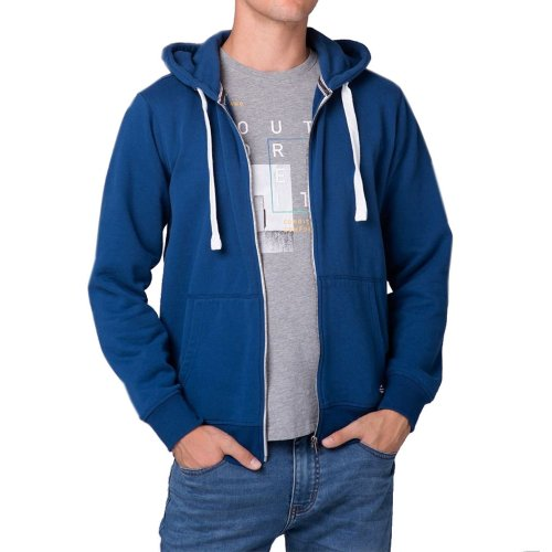 Bluza męska B-STAR - niebieska rozpinana bluza z kapturem Bluza Volcano Bluza męska Volcano