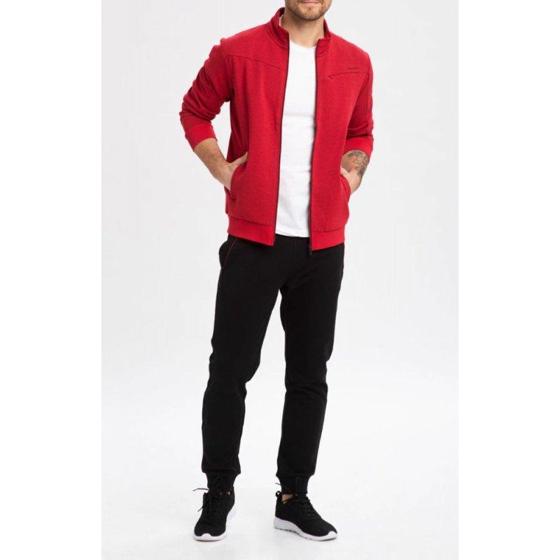 Bluza męska B-ARES- czerwona Fajna bluza męska bez kaptura Bluza męska Volcano Bluza Volcano