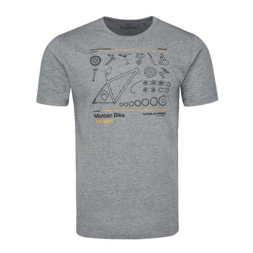 T-shirt męski T-STEER - szary