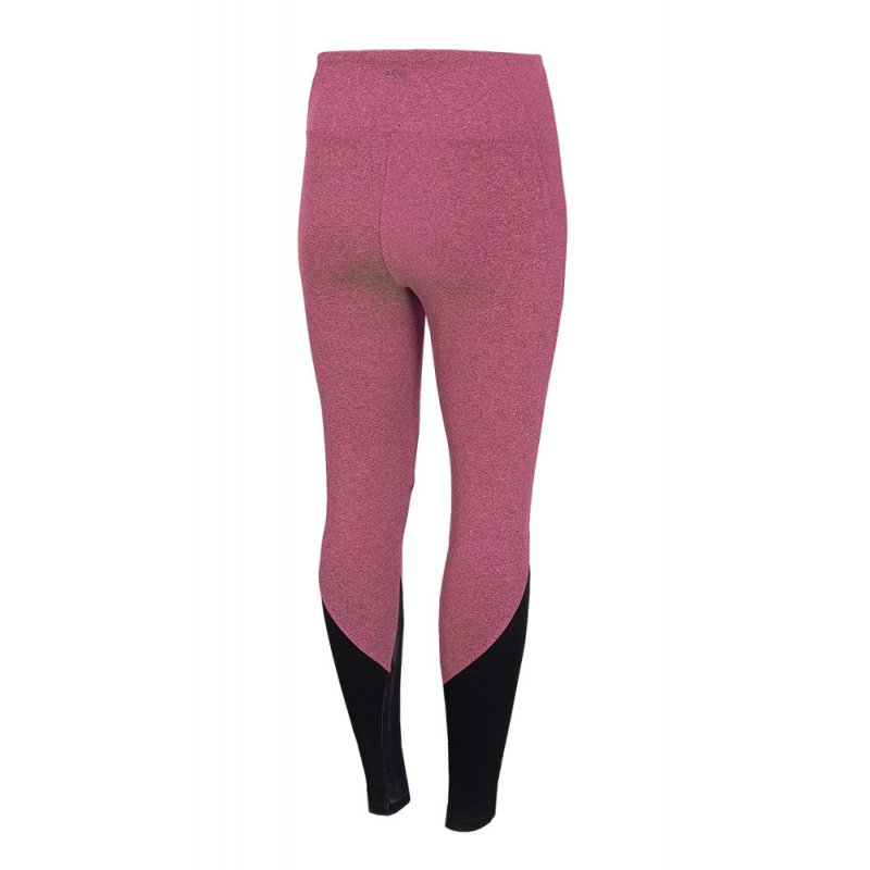 Damskie legginsy Outhorn - różowe Modne legginsy sportowe damskie legginsy na siłownię