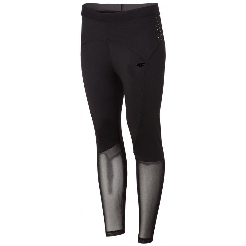 Damskie czarne legginsy 4FSPDF002 czarne damskie legginsy legginsy do ćwiczeń