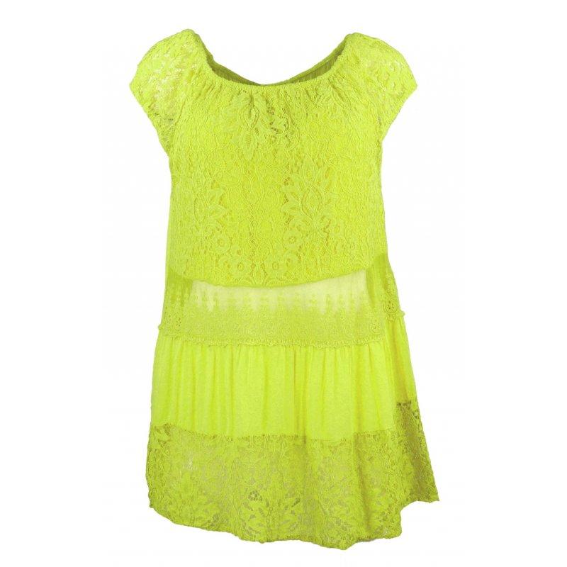Bluzka damska z lekką koronką- zielona
