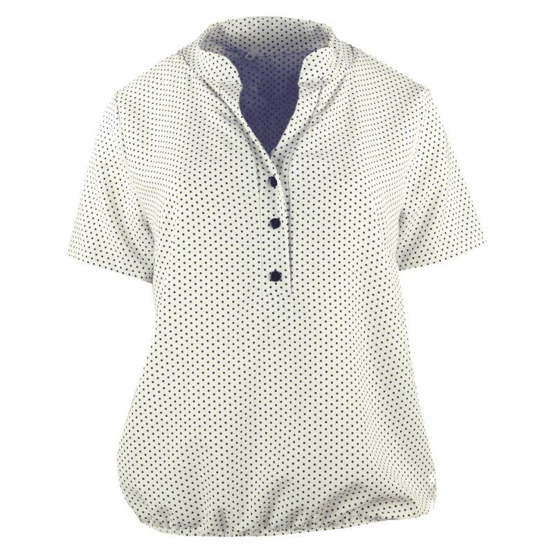 Bluzka damska z gumeczką na dole - groszki Damska bluzka z krótkim rękawem