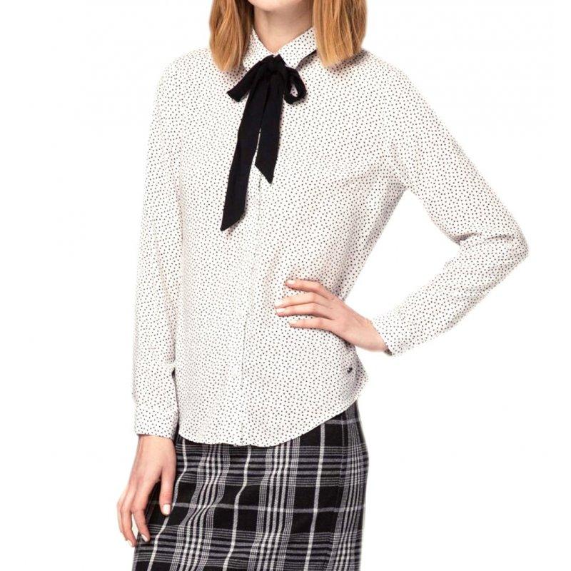 Koszula damska K-MIRUEL Koszula damska biała elegancka koszula damska koszula damska z krawatem