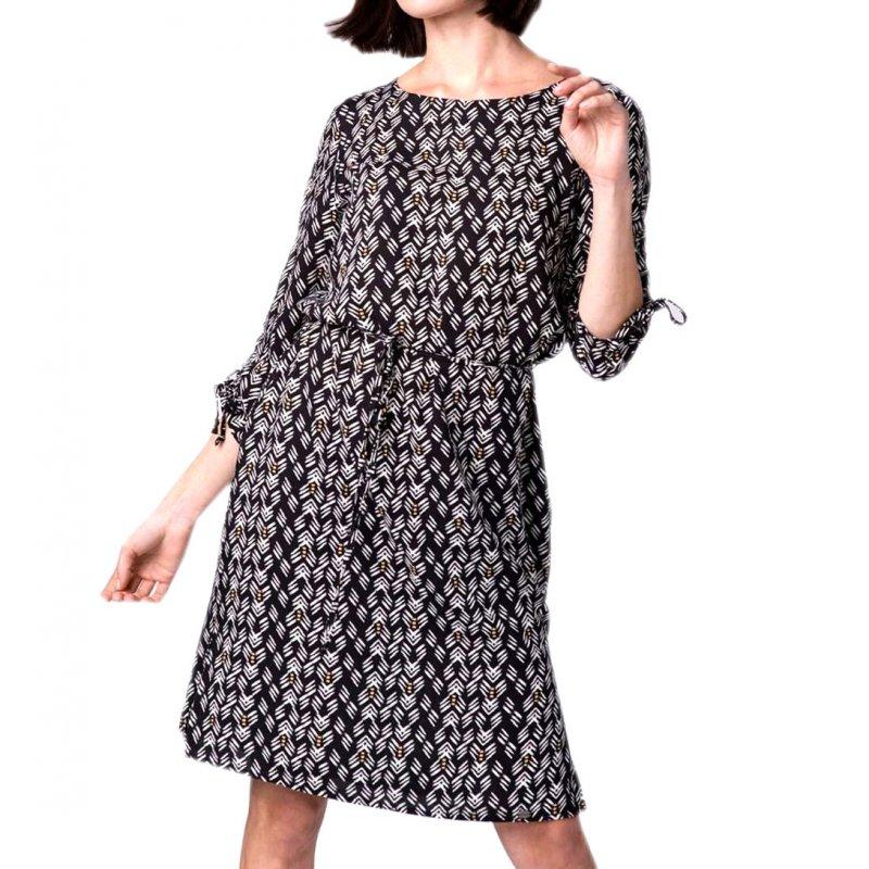 Sukienka wzorzysta damska G-FOLK sukienka z wiskozy sukienka casualowa