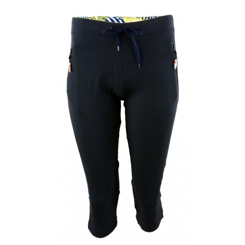 Spodnie dresowe 3/4 rybaczki Granatowe spodnie damskie dresowe Rybaczki dresowe damskie