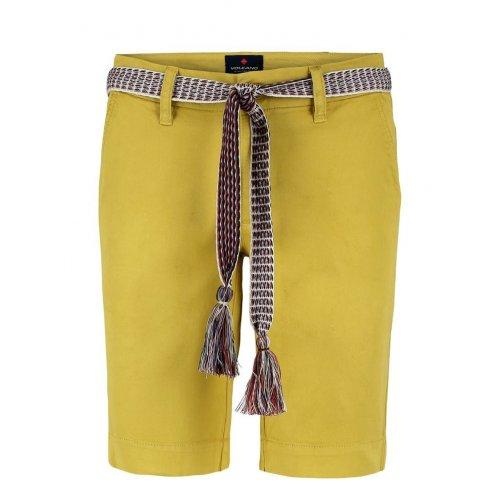 Damskie bermudy bawełniane P MIYA żółte XS