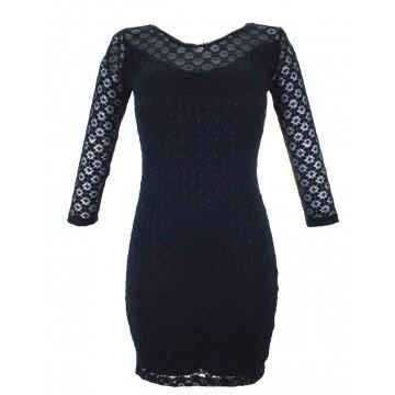 Sukienka z koronki Paris Chic (granatowa)
