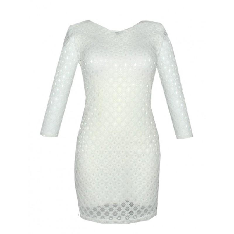 Sukienka z koronki Paris Chic (ecru)