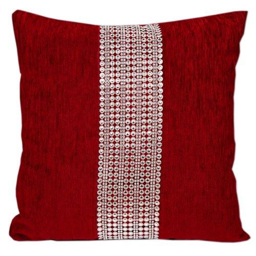 Duża Poduszka Dekoracyjna Czerwona 50x50 5446 Duża poduszka dekoracyjna Poduszka dekoracyjna do salonu