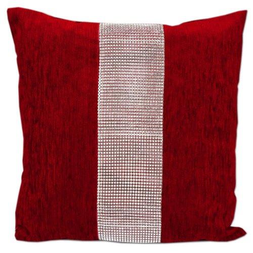 Duża Poduszka Dekoracyjna Czerwona 50x50 5448 Duża poduszka dekoracyjna Poduszka dekoracyjna do salonu