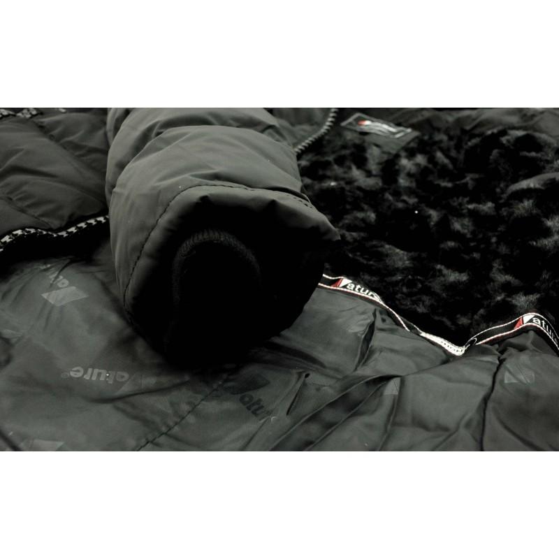 Kurtka/płaszcz z futrzanym kapturem ZIMOWA (czarna)