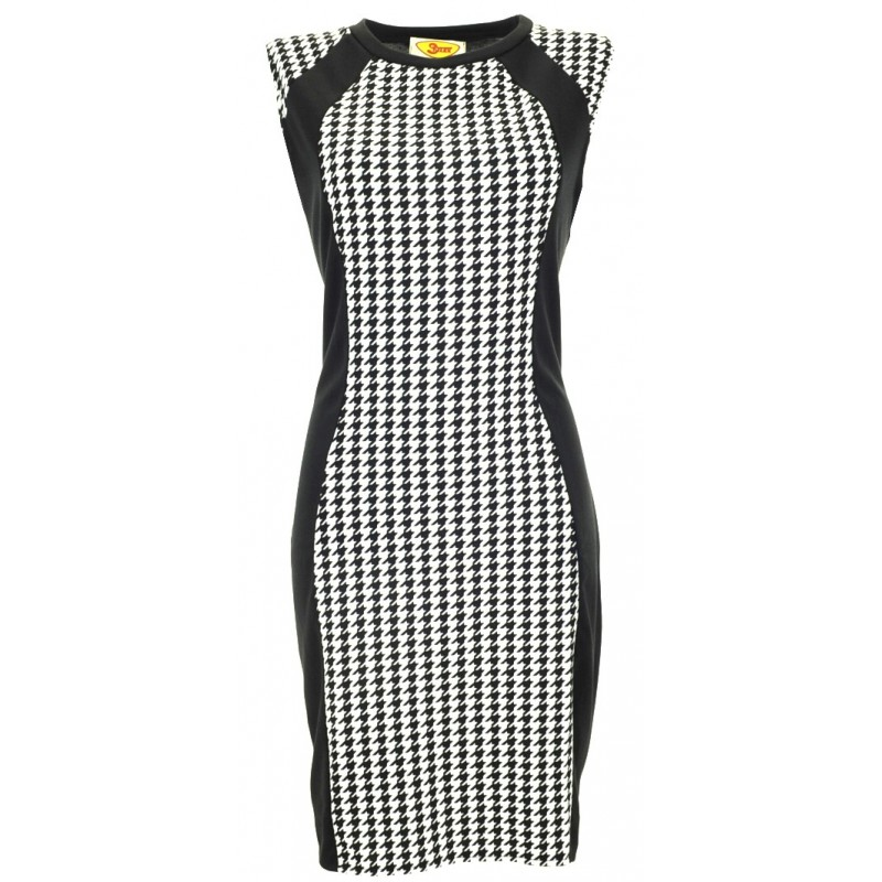 Sukienka w pepitkę ST/VK 1220p