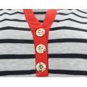 Bluzka w paski (szary+czarny1)