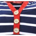 Bluzka w paski (granat+czerwony)