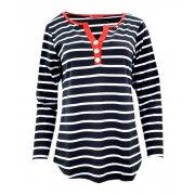 Bluzka w paski (czarny + czerwony)