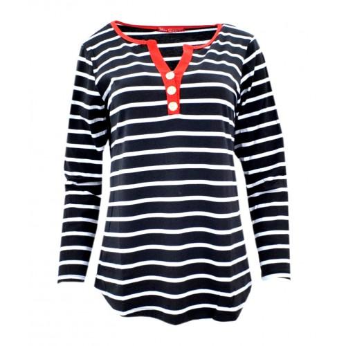 Bluzka w paski (czarny+czerwony)