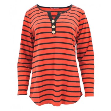 Bluzka w paski (czerwony + czarny)