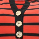 Bluzka w paski (czerwony+czarny)