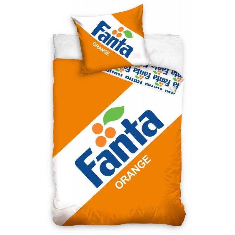 Pościel Fanta 160x200 100% Bawełniana FANTA191092 Pościel bawełniana 160x200 Pościel pomarańczowa Pościel z bawełny