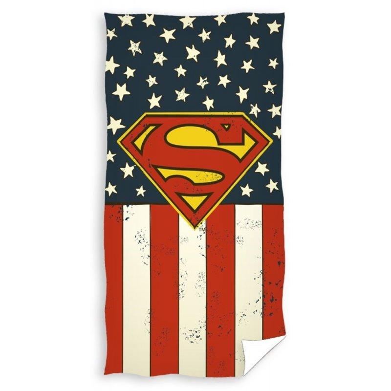 Ręcznik plażowy bawełniany 70x140 Superman SUP163013 Ręcznik z nadrukiem Ręcznik 70x140 Ręcznik z Supermanem
