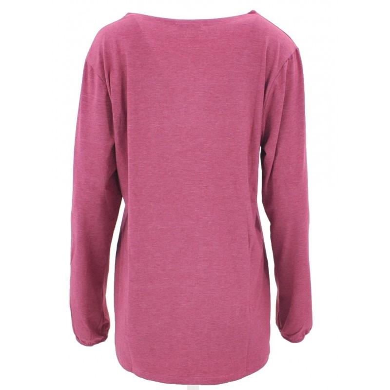 Bluzka ETNO PIÓRA (różowa)