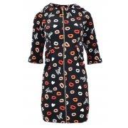 Sukienka z długim zamkiem LIPS (czarna)