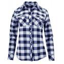Koszula w kratę 100% bawełna (granatowo-biała)