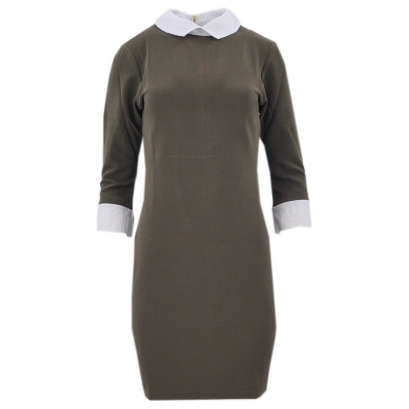 Sukienka pensjonarka (khaki)