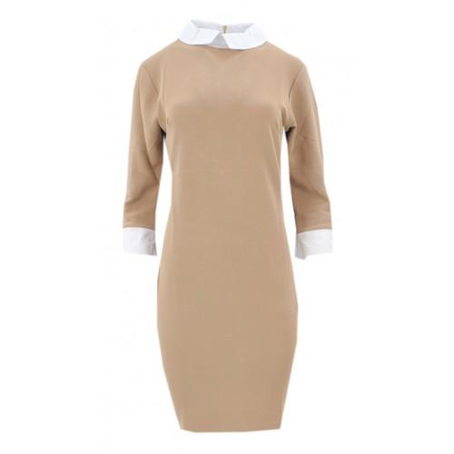 Sukienka pensjonarka (beżowa)