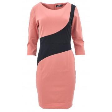Sukienka z fantazyjną talią (koral)